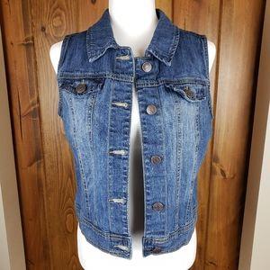 Cherokee Girl's Denim Vest,  sz XL (14/16)